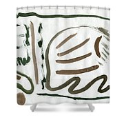 Fatal Pond Shower Curtain