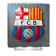 Fc Barcelona Symbol Shower Curtain