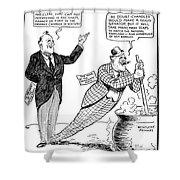 F.d. Roosevelt Cartoon Shower Curtain