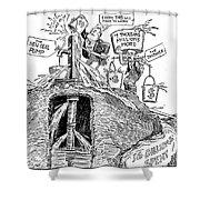 F.d.r. Cartoon, 1930s Shower Curtain