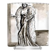 Feather Boa Shower Curtain