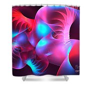Feather Coral Shower Curtain