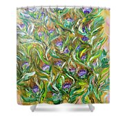 Feather Luster Shower Curtain
