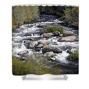 Feather River White Water Shower Curtain