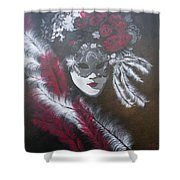 Feathered Rose Shower Curtain