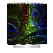 Feathers Of Hope. Blue Touch Shower Curtain