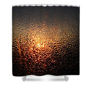 February Morning Dew Drops Shower Curtain