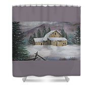 February Snowstorm Shower Curtain