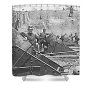 Federal Siege Guns Yorktown Virginia During The American Civil War Shower Curtain