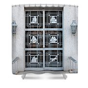 Federal Trade Commission Art Deco Door Shower Curtain by Clarence Holmes