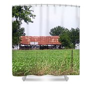 Feeding Barn Shower Curtain