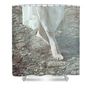 Feet In Water Shower Curtain