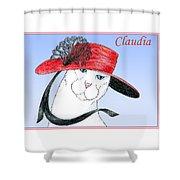 Feline Finery - Claudia Shower Curtain