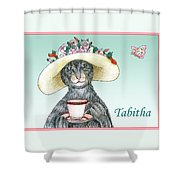 Feline Finery - Tabitha Shower Curtain