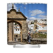 Felipe V Arch In Ronda Shower Curtain