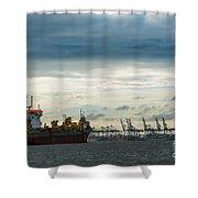 Felixstowe Docks Shower Curtain