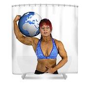 Female Atlas Shower Curtain