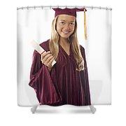 Female Graduate II Shower Curtain