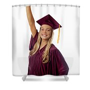 Female Graduate Shower Curtain