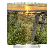 Fence Along The Shore Shower Curtain