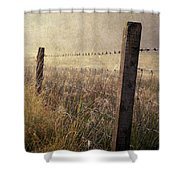 Fence And Field. Trossachs National Park. Scotland Shower Curtain