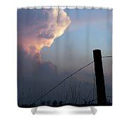 Fence And Sunset Shower Curtain