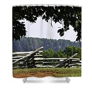 Fence At Appomattox Shower Curtain