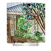 Fence Sketchbook Project Down My Street Shower Curtain by Irina Sztukowski