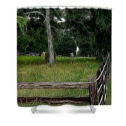 Fenced In Field Shower Curtain