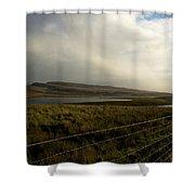 Fenced Landcsape Shower Curtain