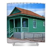 Fenced Yard Shower Curtain