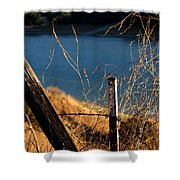 Fenceposts Shower Curtain