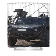 Fennek Armored Reconnaissancd Vehicles Shower Curtain