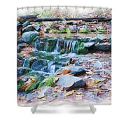 Fern Spring In Autumn Shower Curtain