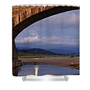 Fernbridge And The Moon Shower Curtain