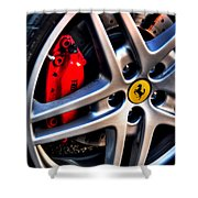 Ferrari Shoes Shower Curtain