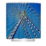 Ferris Wheel - Nuremberg  Shower Curtain by Juergen Weiss