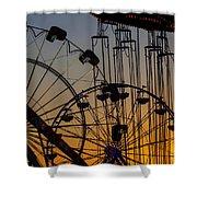 Ferris Wheels Shower Curtain