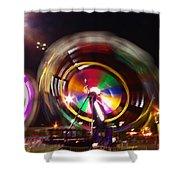 Ferris Wheels Go Round Shower Curtain
