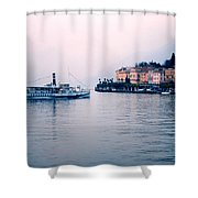 Ferry To Bellagio On Lake Como Shower Curtain