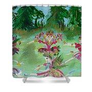 Festive Fairies Shower Curtain