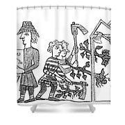Feudalism: Village Shower Curtain
