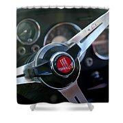 Fiat Steering Wheel Shower Curtain
