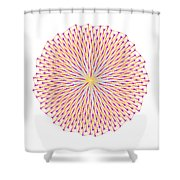 Fibonacci Image With Reticulation In  Blue And Orange Shower Curtain