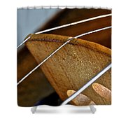Fiddle Strings Shower Curtain