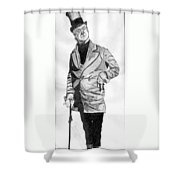 Fields As The Imperishable Wilkins Micawber Shower Curtain