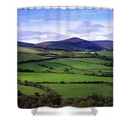 Fields From The Sugar Loaf Mountain, Co Shower Curtain