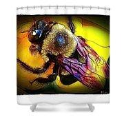 Fierce Bumblebee Shower Curtain