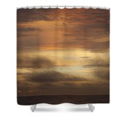 Fiery Atlantic Sunrise 1 Shower Curtain