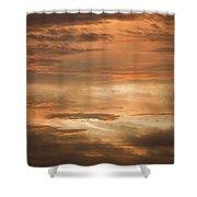 Fiery Atlantic Sunrise 2 Shower Curtain